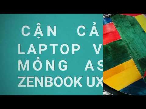 Cận cảnh laptop viền siêu mỏng Asus Zenbook UX410