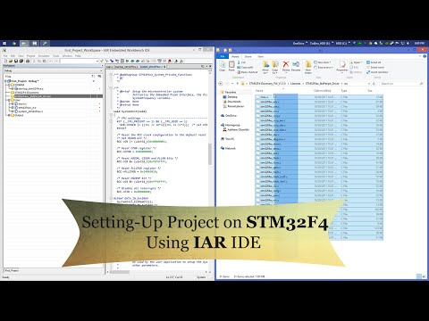 STM32F4 Tutorial : Setting up your first project for STM32F4 using IAR Embedded workbench