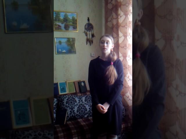 Изображение предпросмотра прочтения – АлесяТютрина читает произведение «Романс(Ты идёшь на поле битвы...)» М.Ю.Лермонтова