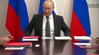 ПУТИН ЗЛОЙ ОТЧИТЫВАЕТ ЧИНУШ 2019 АВГУСТ