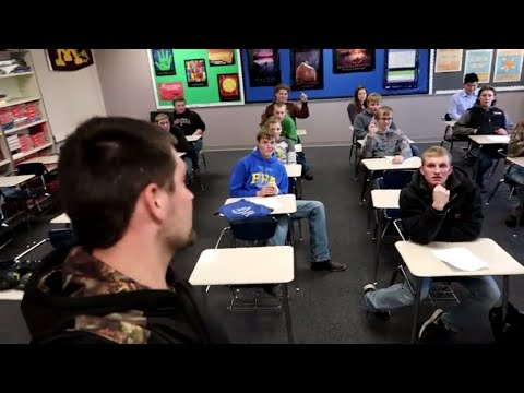 What it's like to be a farmer - Talking to students on career day
