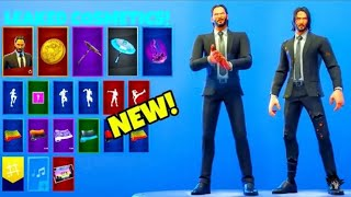 *NEW* JOHN WICK SKIN LEAKED! (*FREE GLIDER, WRAPS, GOLDEN TOKEN) FORTNITE BATTLE ROYALE