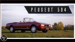 4K - PEUGEOT 504 2.0 TI Monte Carlo Cabriolet 1983 - Test drive in top gear - Engine sound   SCC TV