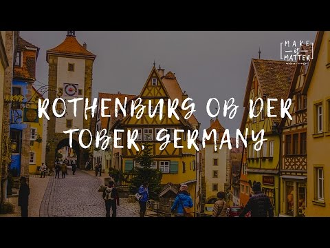Rothenburg ob der Tauber, Germany. Christmas Market Travel Video Guide