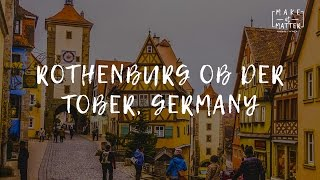 Rothenburg ob der Tauber, Germany. Christmas Market Travel Video Guide