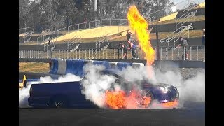 TIP INS, TUFF CARS, RODS OUT & MISHAPS AT BURNOUT OUTLAWS 4