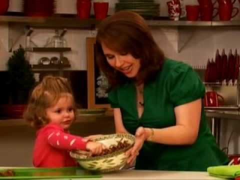 QVC host Sharon Faetsch and her daughter making cookies