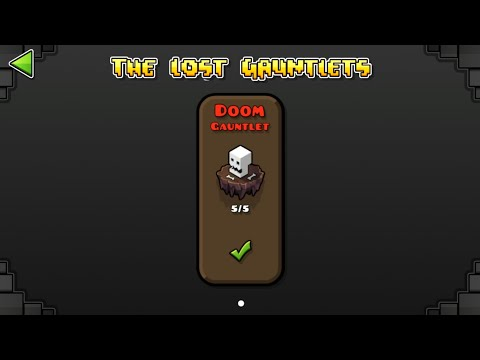 DOOM GAUNTLET (ALL CLEAR) | GEOMETRY DASH 2.11 : The Lost Gauntlets Series #10 / ♬ Partition