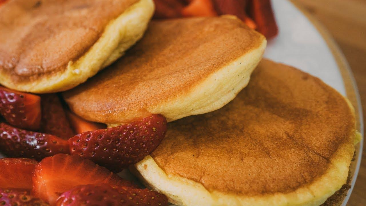 Ricetta Japanese Pancakes.Pancakes Giapponesi Alti E Soffici Come Souffle Ricetta Facile Senza Burro E Senza Lievito Youtube