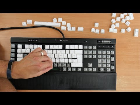 Filthy keyboard cleaning timelapse
