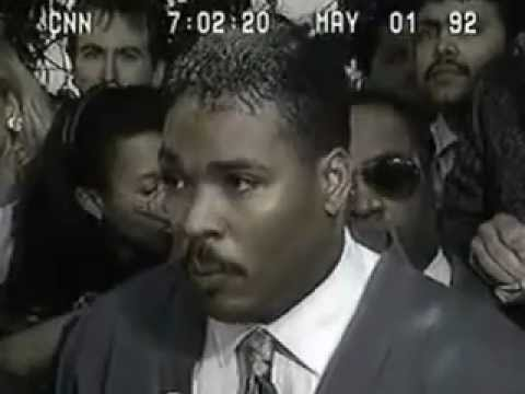 L.A. Riots of 1992  Rodney King speaks.flv