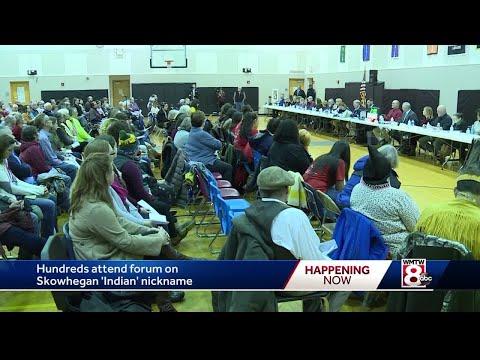 Hundreds pack meeting to discuss Skowhegan High School mascot