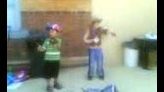 fiddle playing cowboys in miniature