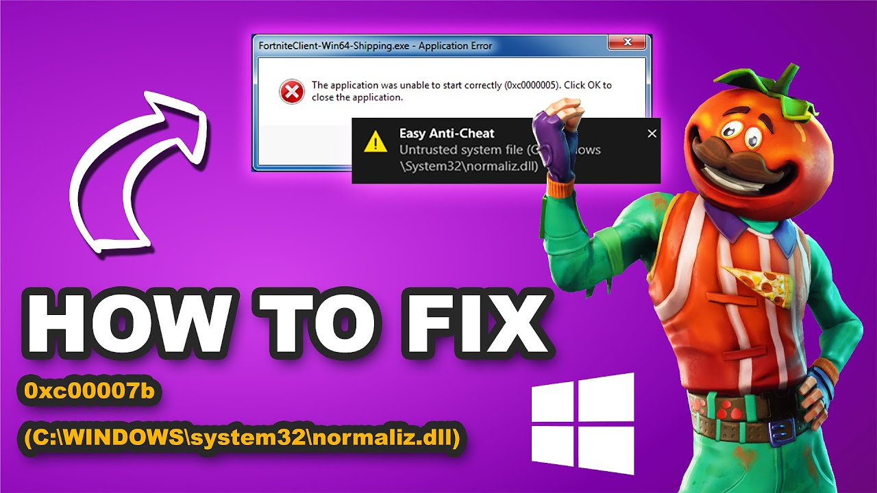 How to Fix: Untrusted system file (C:\WINDOWS\system32\normaliz dll)  Application Error 0xc00007b