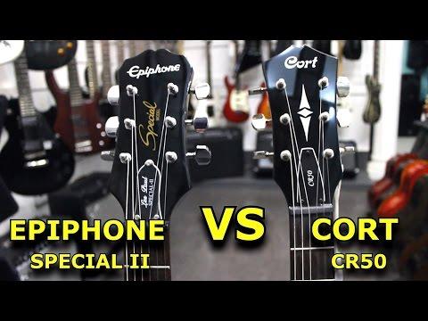 EPIPHONE SPECIAL II  VS  CORT CR50  -  Guitar Battle #3