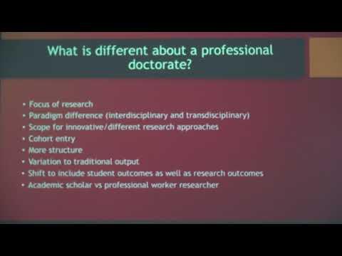 Doctoring the Knowledge worker - Emeritus Professor: Mark Tennant