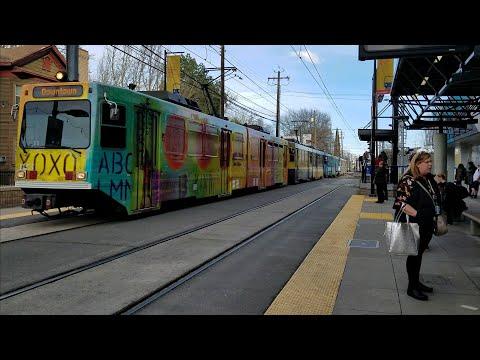 Sacramento Light Rail New Art Color, Sacramento California