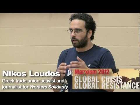 Greek activist Nikos Loudos at Marxism 2012 - May 25 at Ryerson University in Toronto, Canada