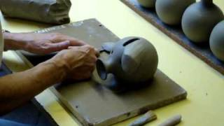 Ingleton Pottery My folks show how to make a clay pottery ceramic piggy bank on the wheel