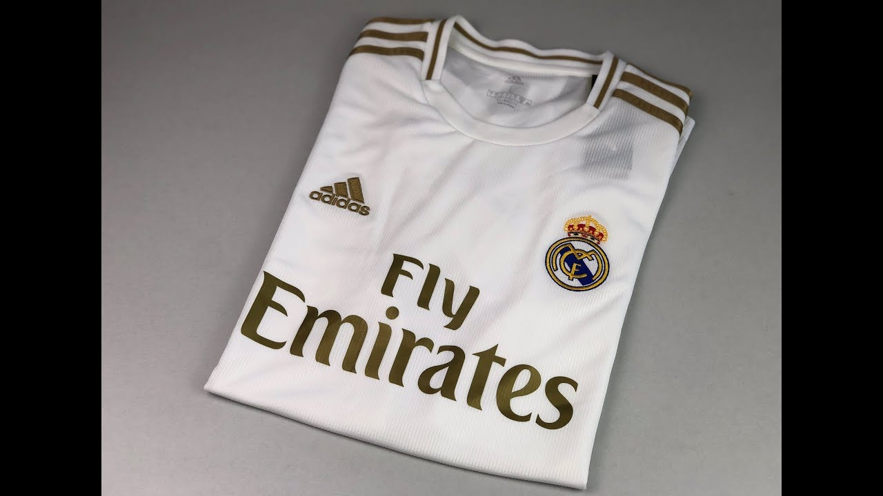 Real Madrid Home Jersey White Gold Unpacking Worn