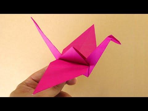 origami kranich falten vogel basteln mit kindern bastelideen origami tiere falten youtube. Black Bedroom Furniture Sets. Home Design Ideas