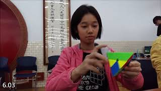 Taichung Cubing Open 2019-Pyraminx First round [PB sgl avg]