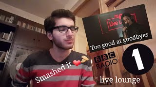 DEMI LOVATO - TOO GOOD AT GOODBYES (Sam Smith Cover at BBC Live Lounge) [REACTION !!!]