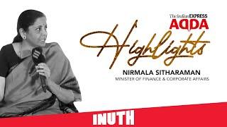Finance Minister Nirmala Sitharaman At Express Adda | Highlights