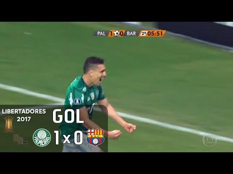 Gol - Palmeiras 1 x 0 Barcelona (EQU) - Libertadores 2017 - Globo HD