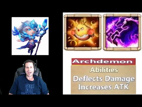 FIRST LOOKS New Talents + New Hero Skin & New Archdemon Castle Clash