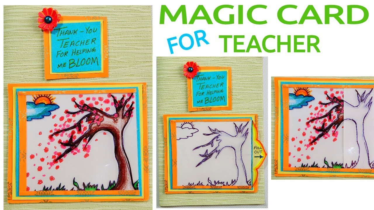 MAGIC CARD FOR TEACHER DIY CARD CARD MAKING TEACHERS DAY CARD