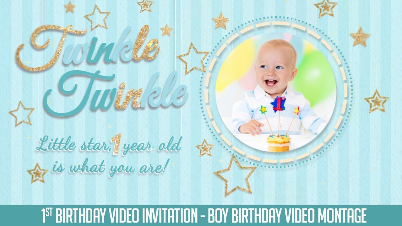 twinkle twinkle little star birthday slideshow birthday invitation boy version