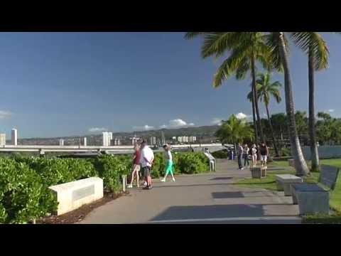 Pearl Harbor and USS Arizona Memorial. HD