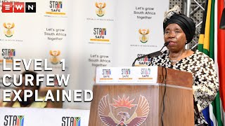 Minister of Cooperative Governance and Traditional Affairs Nkosazana Dlamini-Zuma explains why a curfew remains at alert level 1 of lockdown at a media briefing on Friday.  #CoronavirusSA #Level1 #Lockdown