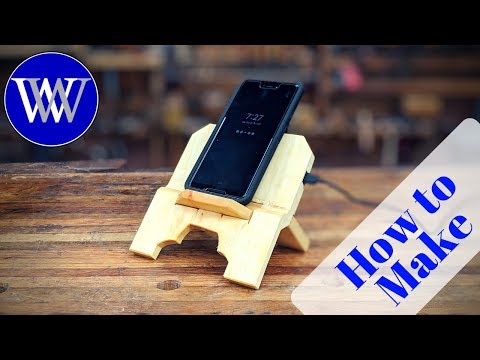 How to Make a Wireless Charging Phone Stand Roubo Style book stand