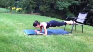 """""""100 Days Of Tabata"""" Day 42: Chair Planks"""