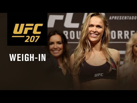 UFC 207: Official Weigh-in