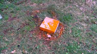 Spray Paint a DVD Player and then Smashing it with  Shovel
