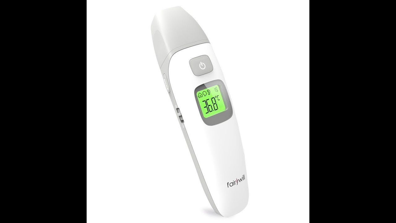 4-in-1 Professional Precision Digital Th Fairywill Ear and Forehead Thermometer