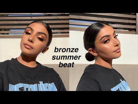 bronzey copper summer glam makeup thumbnail