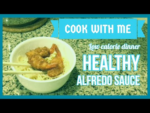 One Pot Meal | Easy Fast Healthy Meal | Shrimp Fettuccine Alfredo | Low Calorie
