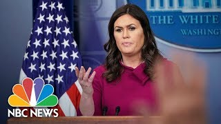 White House: President Donald Trump Not Involved In Andrew McCabe's Decision To Step Down | NBC News