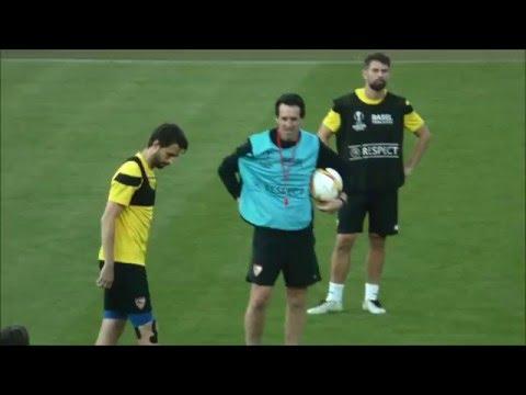 La brutal intensidad de Emery en el entrenamiento del Sevilla FC