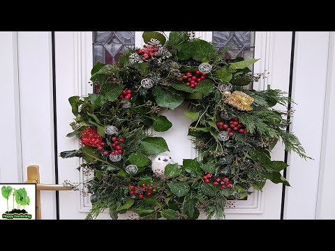 Making An Xmas Wreath From Your Garden