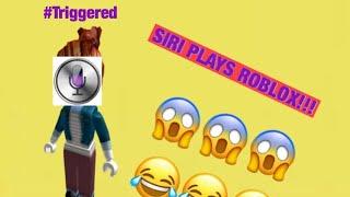SIRI PLAYS ROBLOX!!!