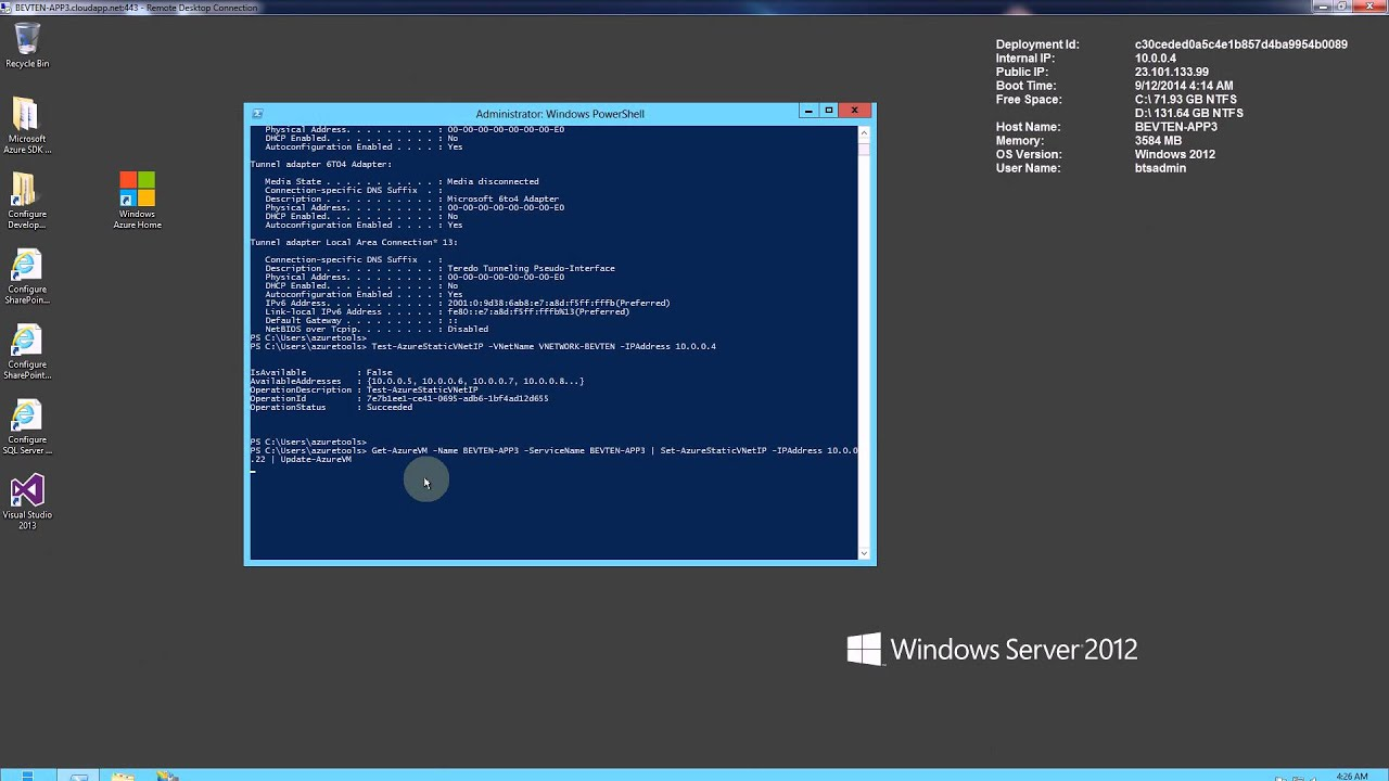 Azure - How to Reserve a Static IP Address for VM