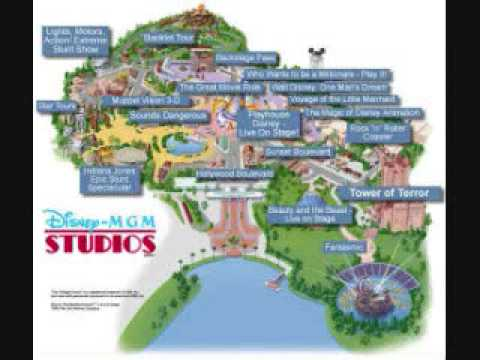 Youtube M.G.M./hollywood studios INTERACTIVE MAP! - YouTube