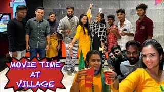 Movie at Village theatre 🍿Kaanum Pongal Outing | Hussain Manimegalai