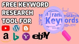 Best free keyword research tool for SEO | Amazon Ebay YouTube Bing Yahoo Google keywords research