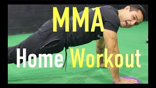 MMA CORE Home workout (No equipment) MMA ABS and CORE